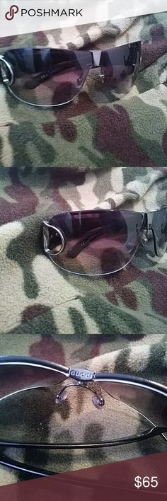 Gucci Women's Glasses Hello these are a nice pre loved authentic gucci glasses. They have some scratches to lenses shown in pictures, but still has plenty life in them. Enjoy! Gucci Accessories Glasses