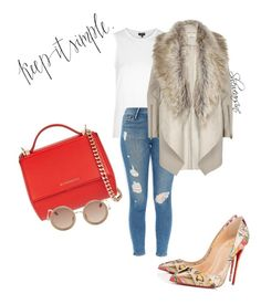Untitled #63 by kisses4everrr on Polyvore featuring polyvore, fashion, style, Topshop, River Island, Frame Denim, Christian Louboutin, Givenchy and The Row