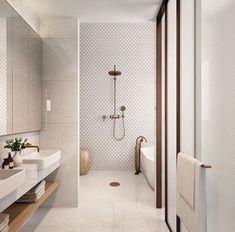 neutral bathroom bathroom, Great Minimalist Modern Bathroom Ideas - Home of Pondo - Home Design Contemporary Bathroom Designs, Bathroom Tile Designs, Bathroom Interior Design, Bathroom Styling, Contemporary Bathrooms, Contemporary Interior, Contemporary Bar, Contemporary Building, Contemporary Cottage