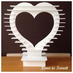 Large-Painted-Ferrero-Rocher-Heart-Display-Stand-White-Weddings-Candy-cart