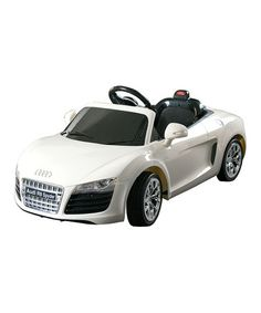Love this White Audi R8 Spyder Ride-On on #zulily! #zulilyfinds, a little luxury for the littles one....
