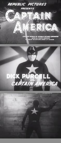 This Republic serial was released before the end of World War II. Captain America 1944, Captain America Pictures, Classic Comics, Classic Tv, Old Movies, Vintage Movies, Republic Pictures, Old Hollywood Movies, Cinema