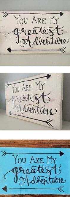 Rustic Home Decor, You Are My Greatest Adventure Sign ~ Disney's Up Sign, Disney Wedding/Anniversary Gift, Reclaimed Wood, Hand Painted Sign, Rustic Sign, Gift for Her, Gift for Him, Home Décor #affiliatelink