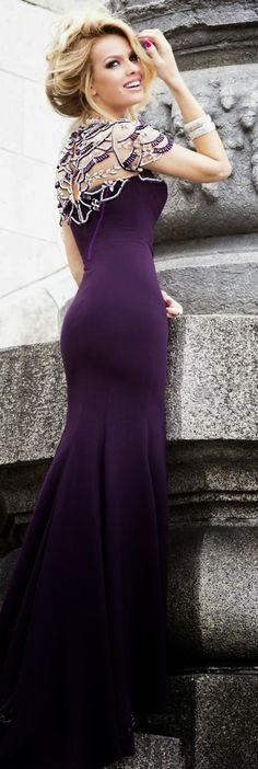 Stunning royal purple bridal dress