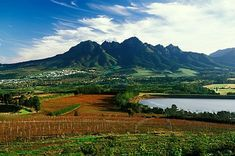 "The Somerset West skyline is dominated by the Helderberg mountain. The town is actually build ""around"" or at the foot of the mountain and the Helderberg Nature Reserve. Provinces Of South Africa, Somerset West, Africa Destinations, Namibia, Out Of Africa, Nature Reserve, Africa Travel, Cape Town, Beautiful Landscapes"