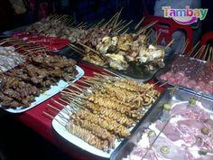 Variety of Inasal in Baywalk Bacolod