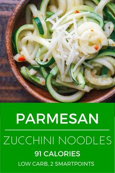 Parmesan Zucchini Noodles - Slender Kitchen