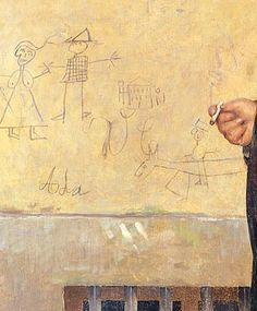 Corcos, ritratto di Yorick, particolare, Museo civico Giovanni Fattori, Livorno, 1889