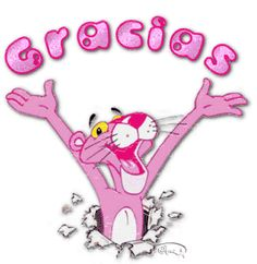 agradecimiento pantera rosa