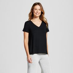 f05d948f5f Croft   Barrow Women s Pajamas  Naptime Short Sleeve Sleep Shirt ...