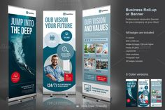 Corporate Roll-up or Banner by TypoEdition on Creative Market