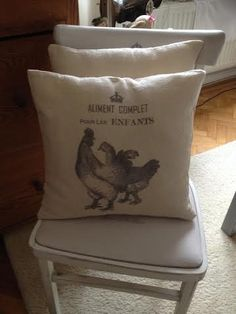 "Vintage Cushion with Provencal Style "" Cock"" by ByBeeSee on Etsy Vintage Cushions, Provence Style, Cushion Fabric, Different Patterns, I Shop, Bed Pillows, Handmade, Etsy, Decor"