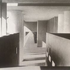 Studying Rossi. Exterior and collonade, Gallaratese, Milan, 1969-1970