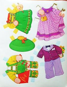 Miss Missy Paper Dolls: Raggy Ann and Andy