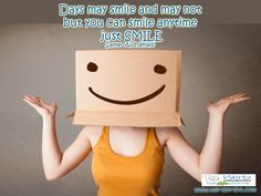 "Smile Quote 14: ""Days may smile and may not, but you can smile anytime, just SMILE""- Samar Aidhamadi Wertz Orthodontics, 855 Norman Drive, Lebanon, PA 17042, P: 717.273.9780 #orthodonticsinRobesonia #bracesinRobesonia #Lebanonorthodontics #BracesinLebanon #Smilequote #teethcaring"