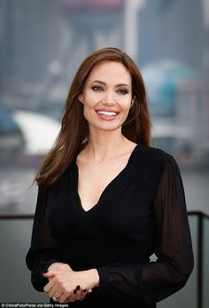 Actress Angelina Jolie attends Maleficent photocall at The Bund in Shanghai, China...