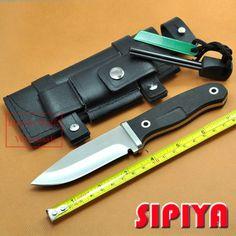 Vaste Messen tactische outdoor Survival Mes Camping gereedschap ATS-34 blade Met Schede & Fire Starter Hand bewakers