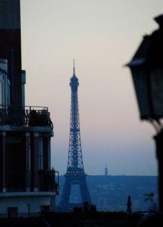 Paris at twilight.