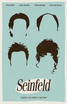Seinfeld minimalist film poster