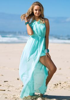 Side Slit Maxi Dress , Would love this in a coral colour