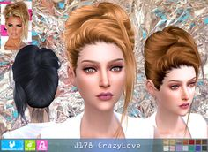 Sims 4 CC's - The Best: Newsea Crazy Love Hair for Females