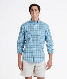 Shop Permit Plaid Harbor Shirt Men's Plaid Down Shirts | Vineyard Vines® Bermuda Green