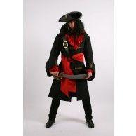Black Pirate of the Seven Seas costume hire Sea Costume, Costume Hire, Costumes, Pirate Fancy Dress, Captain Jack, The Seven, Pirate Party, Seas, Black Stripes