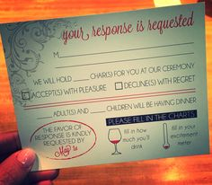 Love how this custom RSVP turned out the fun infographics are my favorite part!! #2015wedding #wedding #engaged #springwedding #weddingplanning #drinkwine www.simpleandstunning.etsy.com