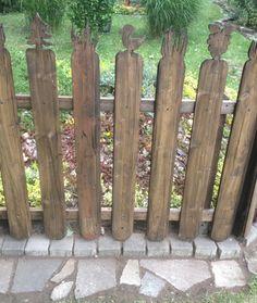 #garden #fence with cute carvings: http://www.1-2-do.com/de/projekt/Der-etwas-andere-Gartenzaun/bauanleitung-zum-selber-bauen/19465/