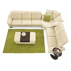 Stressless by Ekornes Stressless Paradise Three piece Corner Sectional with loveseat and sofa - Fashion Furniture - Sofa Sectional Fresno, Madera, Clovis-In grey leather