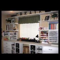 Craft room, will have to do this around my window.