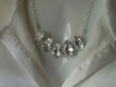 Statement Necklace Sparkling Crystal by TheButterflyGarden7
