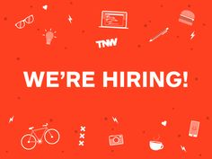 We're hiring! designed by Cecil Kleine for The Next Web. Hiring Poster, Ad Design, Graphic Design, We Are Hiring, Job Ads, Job Posting, Job Offer, Banner, Retail