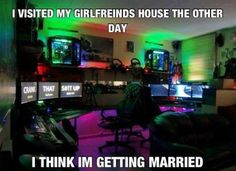 i visited my girlfriends house the other day ... i think I'm getting married. #girlfriend #gf #video games #funny #call of duty #mario