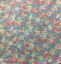 RALPH LAUREN Hope Blue Floral Cottage  Style Fitted  Sheet Queen EUC  #RalphLauren #Cottage