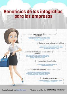 Beneficios de las infografías para las empresas. Infografía en español. #CommunityManager
