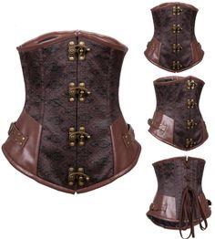 Serre-taille steampunk marron