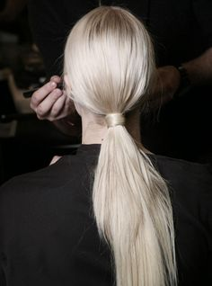 Ponytail tied with your own hair.