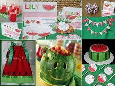 Brides, Birthdays, and Babies Blog by Tiger Lily Invitations: Sweet Summer Party Idea - A Watermelon Birthday