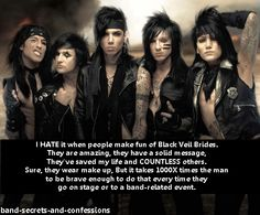 black veil brides is life Black Veil Brides Album, Black Viel Brides, Love Band, Cool Bands, Vail Bride, Andy Black, Motionless In White, Andy Biersack, Band Memes