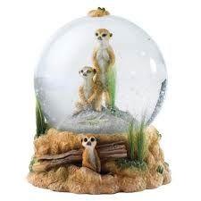 Country Artists Meerkats Waterball Snow Globe