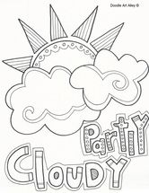 Weather words ~ partly cloudy