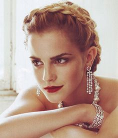 Emma Watson, only 23. I love this photo, she looks like a old-time Hollywood actress from the 30s or 40s.