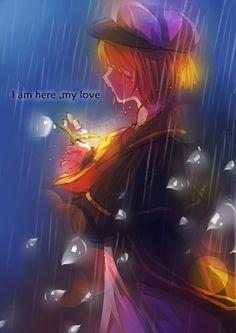 Tags: Anime, Pixiv Id 4699098, Vocaloid, Oliver (Vocaloid), Sad, Rain