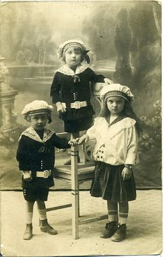 I love the little sailor suits common to the early 20th century.