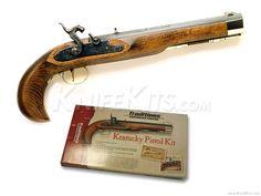 Traditions™ - Kentucky - Black Powder Pistol - - Parts Kit Hobby Kits, Hobbies To Try, Knife Making, Hand Guns, Kentucky, Traditional, Black, Percussion, Hunting