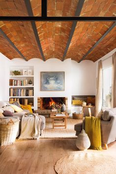 warm and cozy urban oasis with brick beamed ceilings. / sfgirlbybay