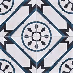 Carreaux de ciment - décors 4 carreaux - Carreau AVRIL 07.30.01 - Couleurs & Matières