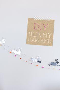 DIY Bunny Garland | Fellow Fellow
