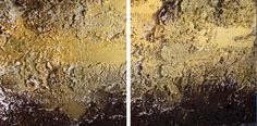 Abstract materic painting. Stucco and acrylic colours on canvas, with gold leaf. Details. #painting #abstract #art #arte #astratta #gold